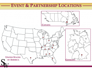 SW Events & Partnership Map